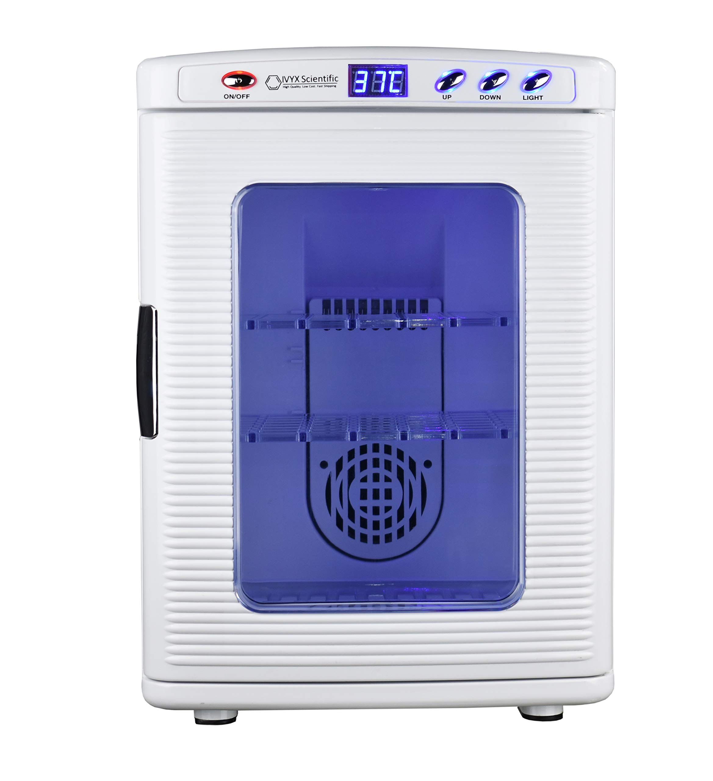 Lab Incubator, Cooling and Heating 2-60C, 12V/110V, 60W, 25L/0.88 cu. ft. Capacity by IVYX Scientific