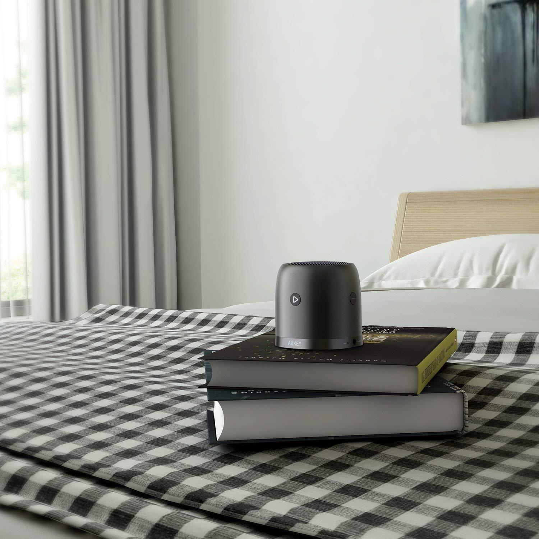 Slot Micro SD Radio FM Cassa Bluetooth con Mic Integrato Custodia in Metallo e 3,5mm Ingresso d/'Audio AUKEY Altoparlante Bluetooth 5.0 Portatile con Bassi Migliorati