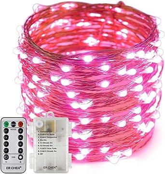 3 pilas AA no incluidas IP44. 4 colores Guirnalda de 20 luces LED de colores funciona con pilas KRYSTAL 6,25 m
