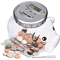 Lefree Digital Piggy Bank with Automatic LCD Display,Large Capacity Digital Counting Money Jar,Coin Bank as for Kids Friends Adults at Christmas,New Year€™s,Birthday