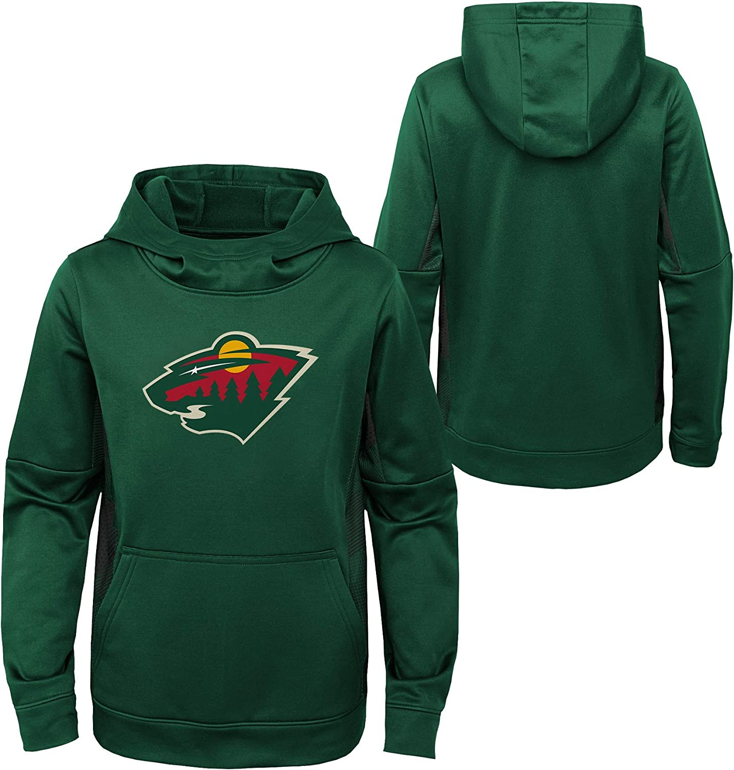OuterStuff Youth NHL Minnesota Wild Performance Hoodie Youth Sizing