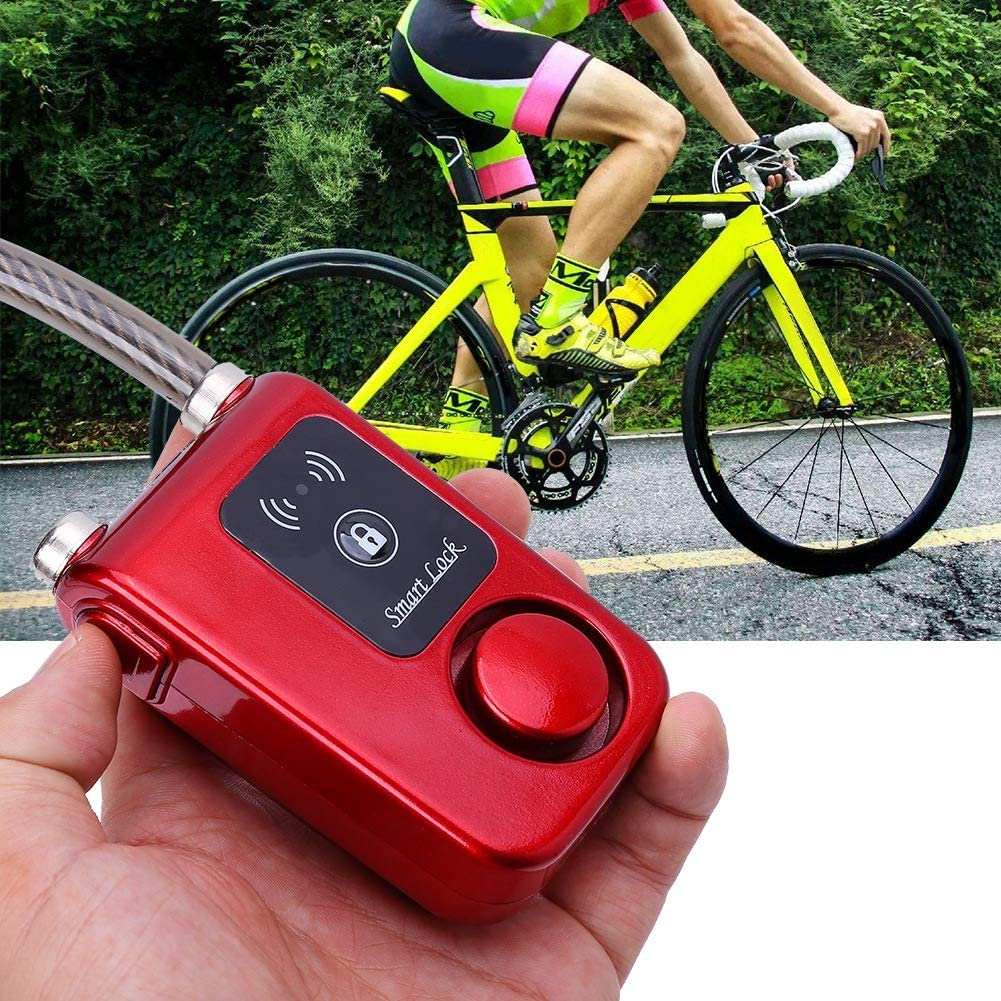 Bicycle Smart Lock APP Control Bluetooth Anti Theft Alarm Chain Lock with 105dB Alarm Automatic Manual Locking for Bikes Motorcycle Gates