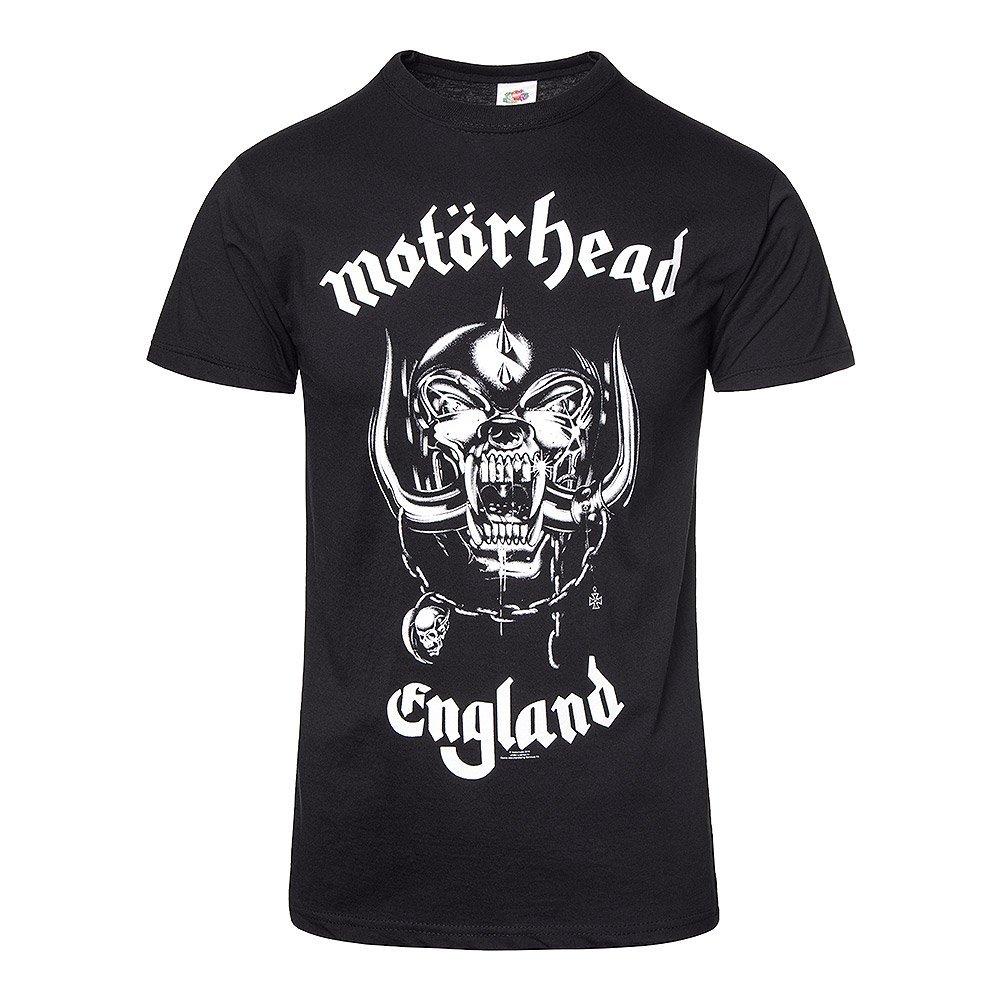 Motorhead Unisex-Adults Official England T Shirt, (Black)