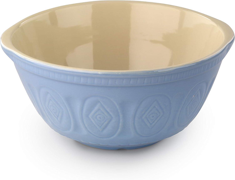 Tala Retro Stoneware Mixing Bowl 12 Inch Duck Egg Blue