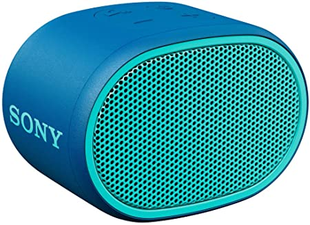 Sony Srs Xb01 Tragbarer Bluetooth Lautsprecher Extra Bass 6h Akku Spritzwassergeschützt Blau Audio Hifi