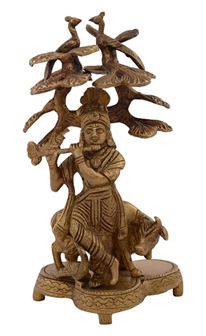 Buy Kapasi Handicrafts Emporium Lord Krishna With Cow Standing