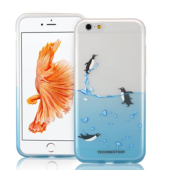 premium selection 8b30d 9c307 iPhone 6S Penguin Case, technext020 Cute Slim iPhone 6S Bumper Rubber Soft  Flexible Silicone Shock Scratch Resist Protective Cover for iPhone 6 and ...