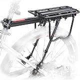 COMINGFIT 110 Lbs Capacity Aluminum Alloy Bicycle Rear Rack Adjustable Pannier Bike Luggage Cargo Rack Bicycle Carrier Racks