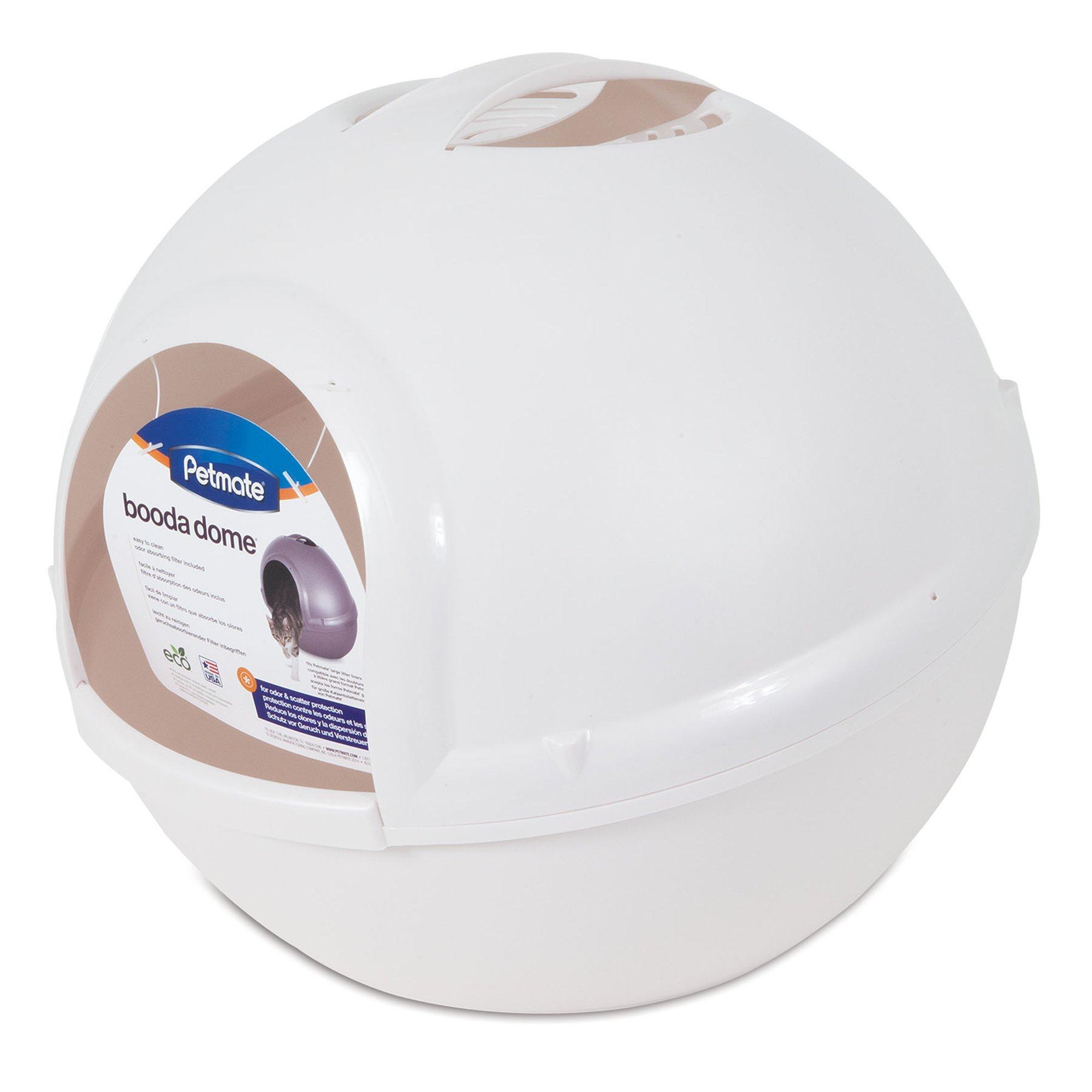 Petmate Booda Dome Pearl Litter Box, White by Petmate