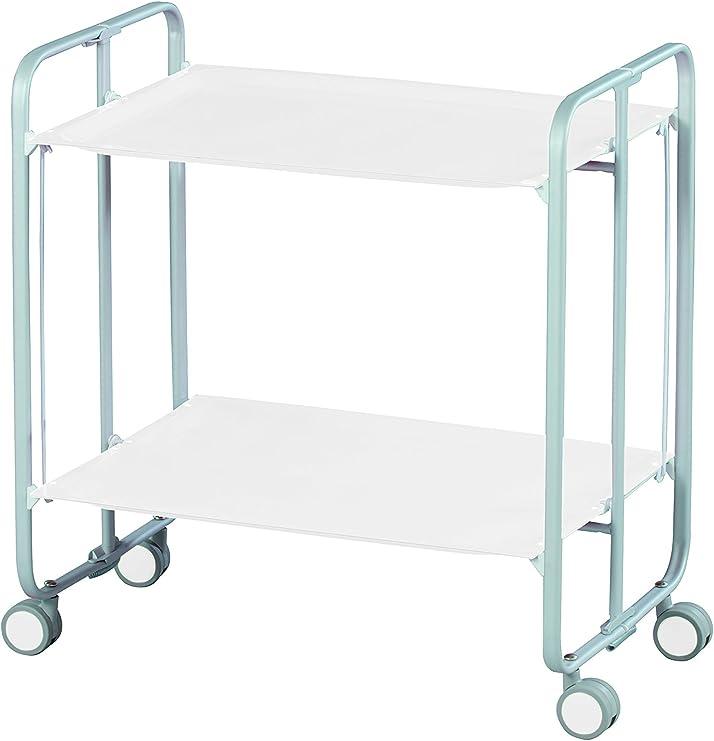 Pliante Blanche Châssis Table Roulante Aluminium DHO Gris Positions et 3 0PXwO8kn