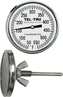 product image for Tel-Tru BQ225 Barbecue Grill Thermometer, 2 inch dial and 2.5 inch stem, 150/750°F