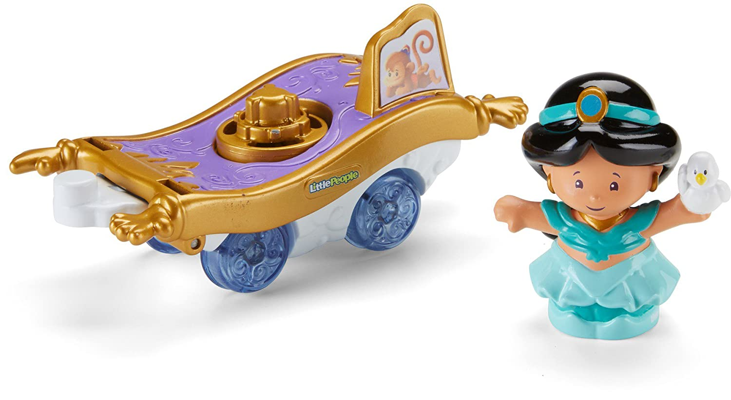 Amazon.com: Fisher-Price Little People Disney Princess Parade Jasmine & Abus Float: Toys & Games