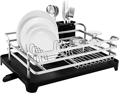 Dish Drying Rack Sink Drainer Kitchen Holder Stainless Steel Small Rustproof New