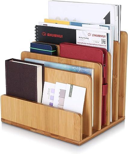Dokumentenablage Holz Bambus-Optik Ablage Büro Briefablage DIN A4 Schreibtisch
