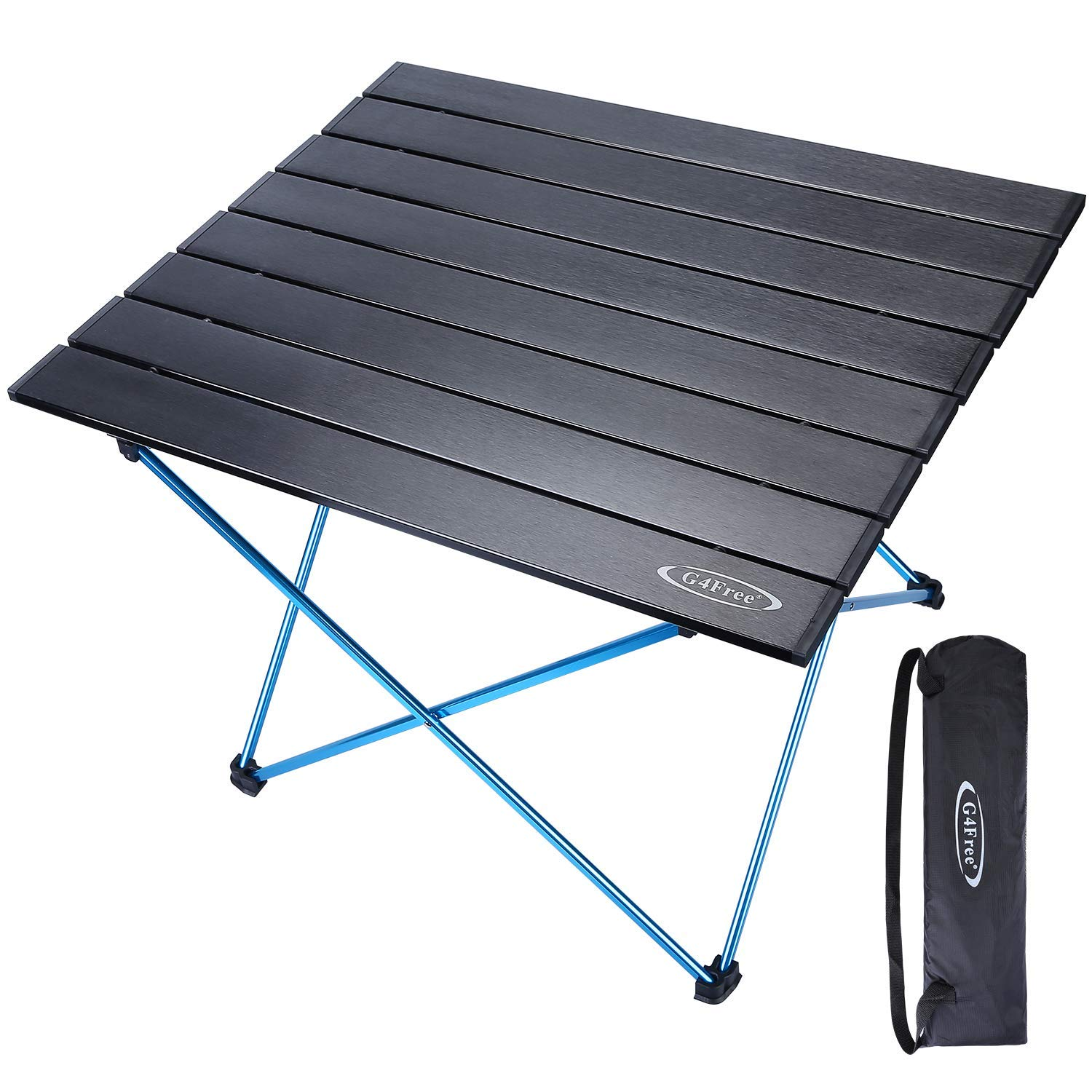Stupendous G4Free Portable Folding Camping Table Aluminum Lightweight Camp Table Compact Roll Up Tables With Carrying Bag For Outdoor Camping Hiking Picnic Pdpeps Interior Chair Design Pdpepsorg
