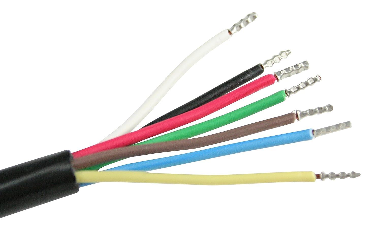 as - Schwabe 5 Meter Kfz Leitung, 7 polig, Anhänger-Kabel für PKW ...
