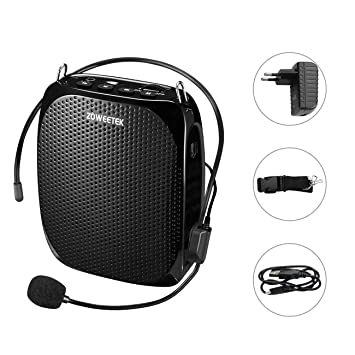 Amplificador portatil (10W) con 1800 mAh batería de Litio con un microfono para guías Maestros Profesores Artistas animadores promotores de Ventas,etc: ...