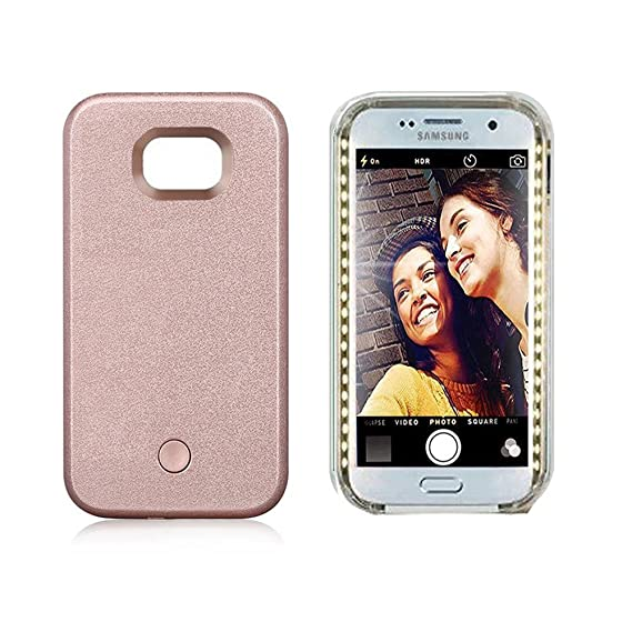 innovative design 6962b 76264 Vanjunn Selfie Led Light Case for Samsung S6 - for Samsung Galaxy S6 Cell  Phone with Rechargeable Backup Rose Case…