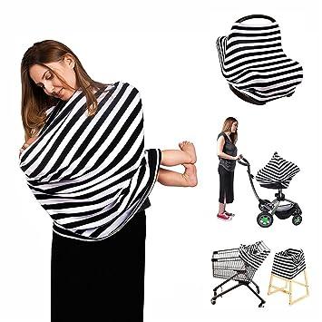 921ae15acfa Nursing Breastfeeding Cover Scarf, 4 in 1 Stretchy Baby Car Seat Canopy  Cover, High