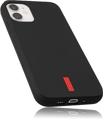Mumbi Hülle Kompatibel Mit Iphone 12 Mini Handy Case Handyhülle Schwarz Mit Rotem Streifen Elektronik