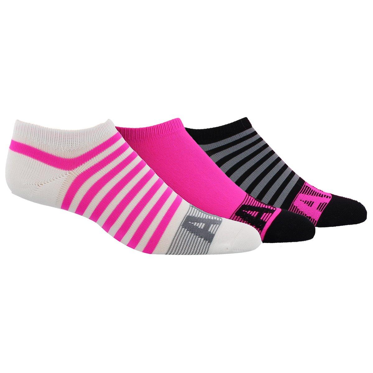 adidas Women's Adistripe No Show Socks (Pack of 3), White, M/M 200846