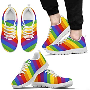 3f5919706bce Gay Pride Shoes for Women Rainbow Sneakers. Printed Kicks Gay Pride Shoes  for Women Rainbow Sneakers (US5 ...