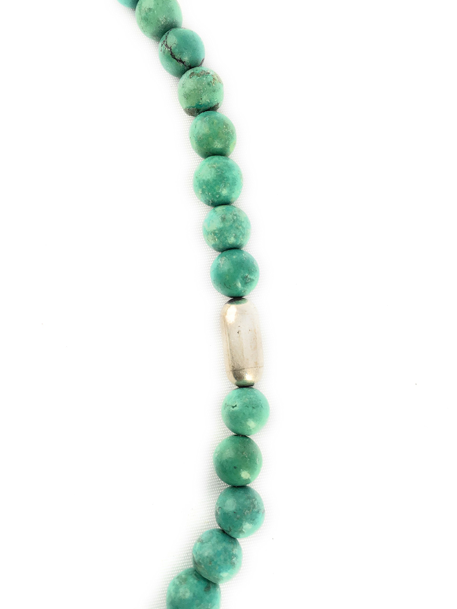 Masha Storewide Sale ! Sterling Silver Necklace By Turquoise, Made in USA - Exclusive Southwestern Handmade Jewelry, Gift by Masha (Image #5)
