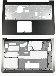 BestPartsCom Replacement Upper Palmrest Case & Bottom Base Cover for Dell Inspiron 15-5547 5542 5545 5548 P/N 0K1M13 06WV6