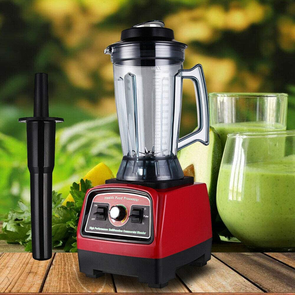 3.9L 2800W Professional Kitchen System Commercial High Speed Blender,High Performance Ice Crusher-Juicer Food Smooth Ice Cream Maker Mixer,Commercial Blender Heavy Duty Food Processor,Black and Red