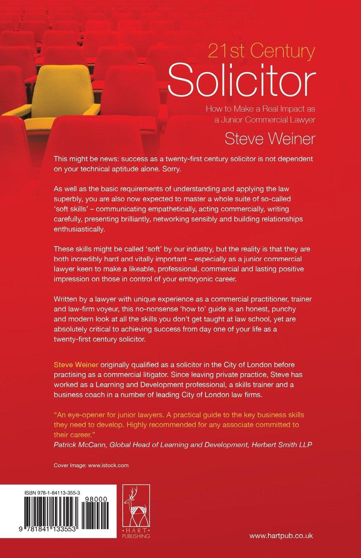 21st Century Solicitor: Amazon.co.uk: Steve Weiner: 9781841133553: Books