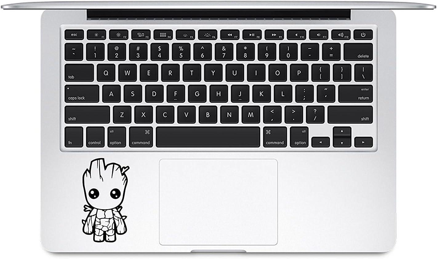 Cute Baby Groot Guardians Decal Vinyl Laptop Sticker | Black | 3.5
