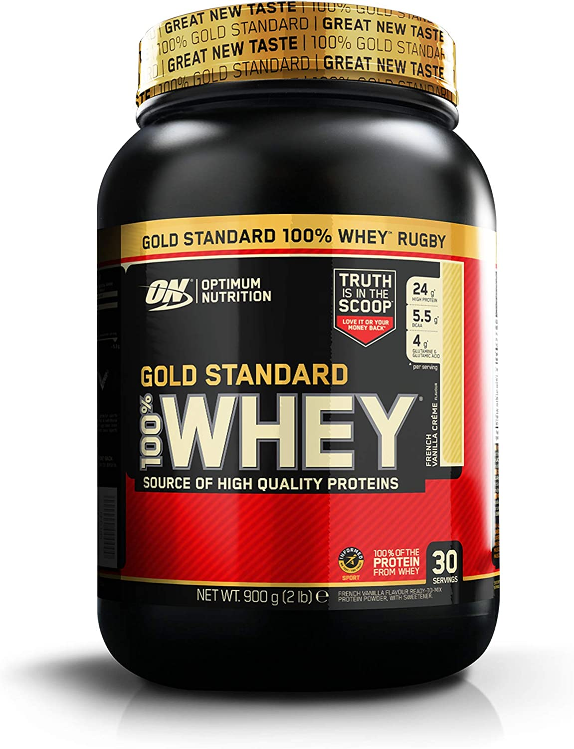 Optimum Nutrition Gold Standard Whey Protein Powder Muscle Building Supplements With Glutamine
