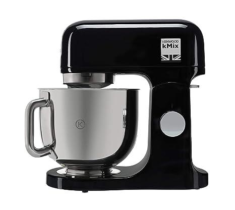 Kenwood kMix KMX75AB Robot de Cocina, 1000 W, Bol de 5 L con asa, Incluye: Gancho amasar, Varillas, batidora K, Acero Inoxidable, 6 Velocidades, Negro