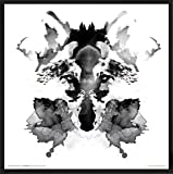 Robert Farkas Rorschach Ink Blot Style Fox Modern Contemporary Animal Decorative Art Print (Framed 12x12 Poster)