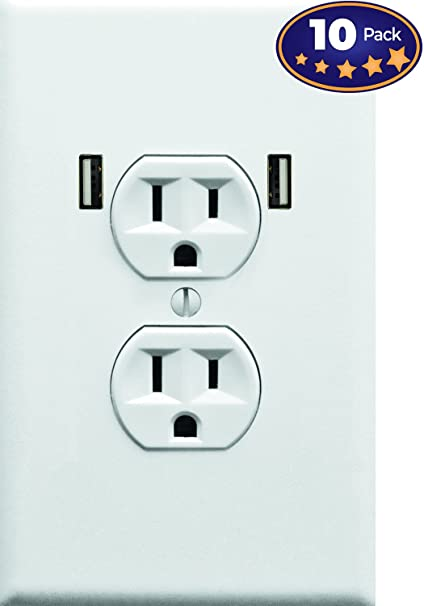 Amazon.com: Fake Electrical Outlet & USB Wall Plate Sticker 10 Pack ...