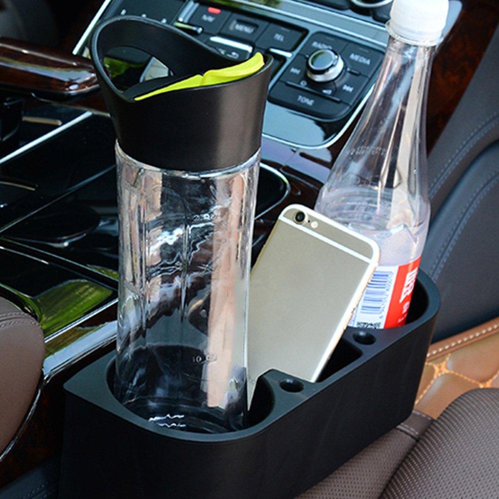 Asiento Lateral Auto tipos de tel/éfono m/óvil soporte para bebidas coche Interior Organizador caf/é comida compartimento Auto Soporte para bebidas lata Soporte de mesa soporte para vasos Caf/é plana