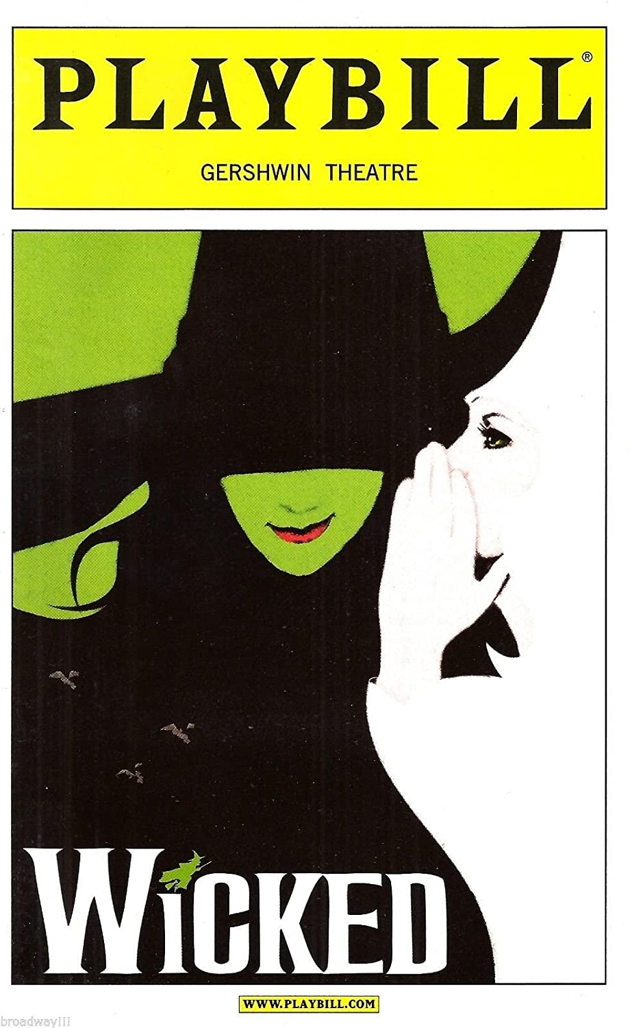 Kristin Chenoweth 'WICKED' Idina Menzel / Joel Grey / Stephen Schwartz 2004 Broadway Playbill