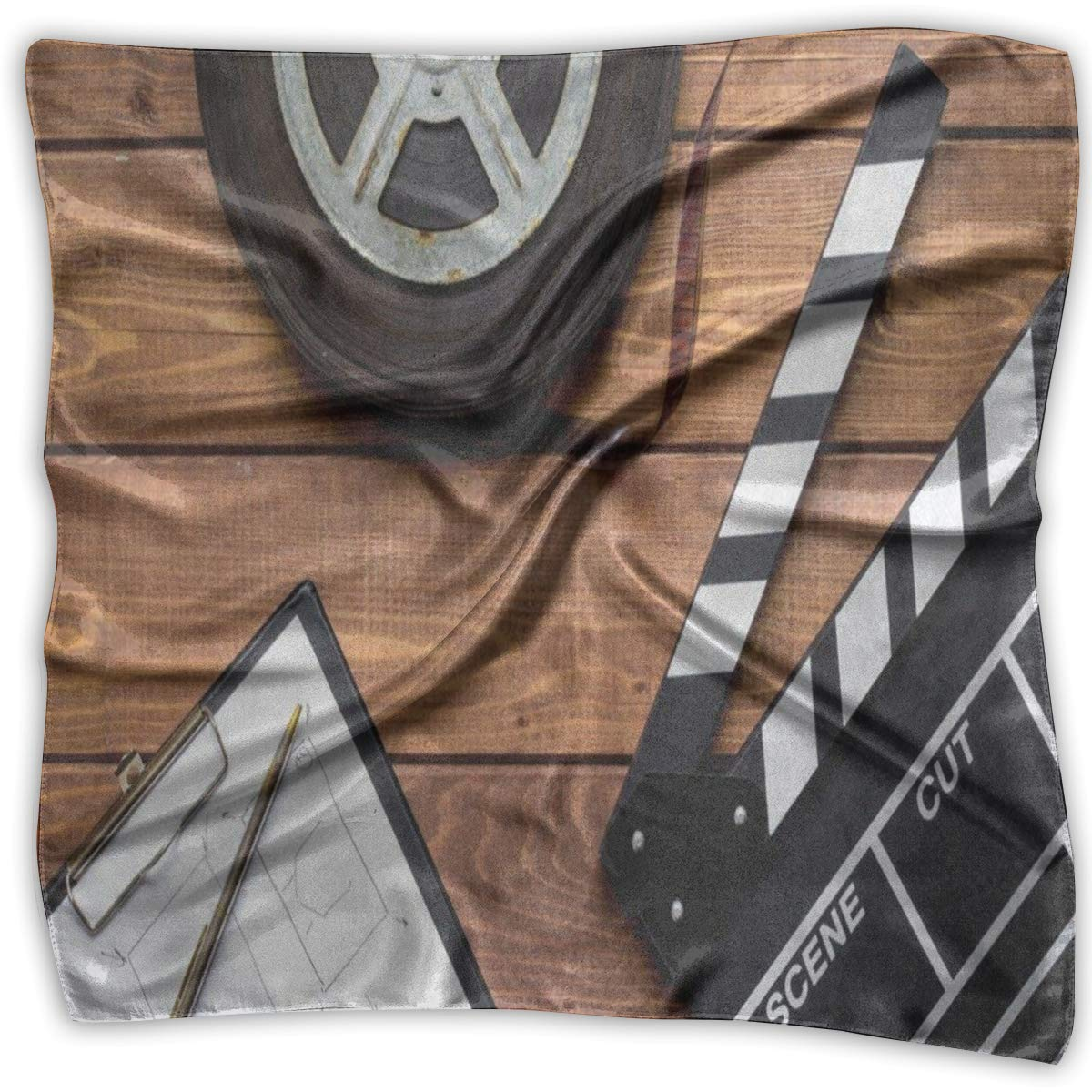 Square Scarf Movie Clap Tape Wooden Headband Unisex Head /& Neck Tie For Adults