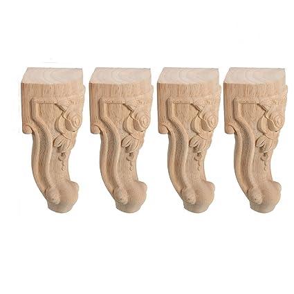 4 pieza patas madera Ornamente Madera Muebles Sofá patas ...