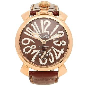 449f640993 [ガガミラノ] 腕時計 メンズ GAGA MILANO 5011.01S BRW ブラウン ピンクゴールド [並行輸入