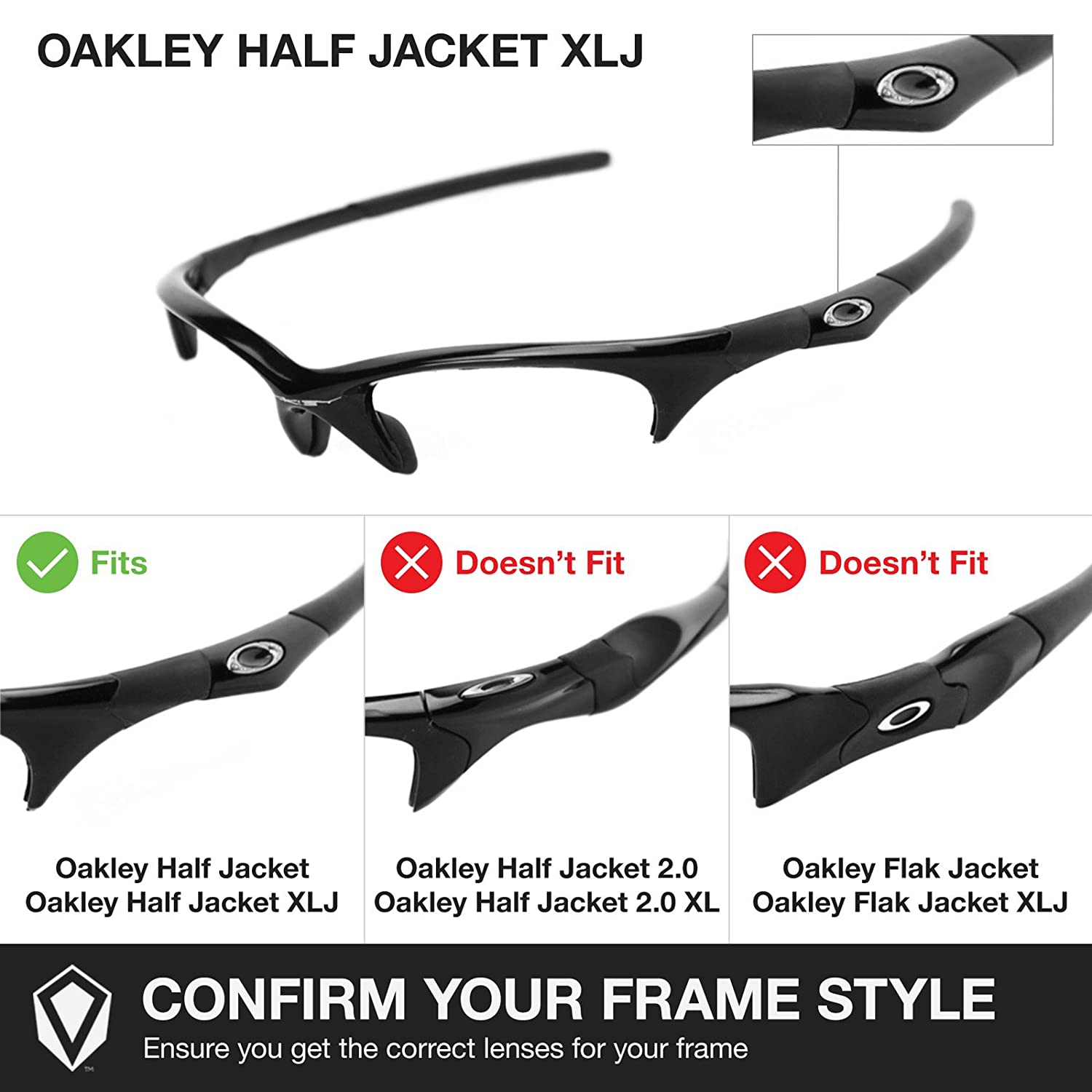 52545d6e99 Revant Replacement Lenses for Oakley Half Jacket XLJ 2 Pair Combo Pack K004  at Amazon Women s Clothing store  Replacement Sunglass Lenses