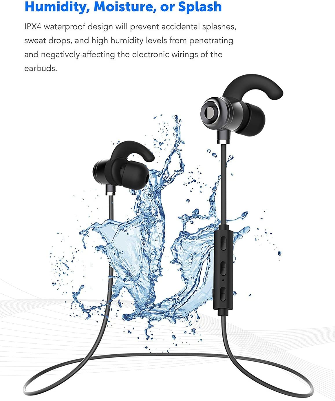 Boxgear Motorola Moto E Dual SIM Bluetooth Headset in-Ear Running Earbuds IPX4 Waterproof with Mic Stereo Earphones CVC 6.0 Noise Cancellation Apple Works with Samsung,Google Pixel,LG