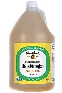 Marukan Genuine Brewed Rice Vinegar, Unseasoned, 1 Gallon