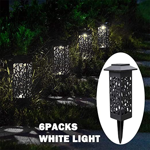 FBGood - Camino Solar de LED para jardín, iluminación de césped, para Cubierta Solar Hueca, 6 Unidades: Amazon.es: Hogar