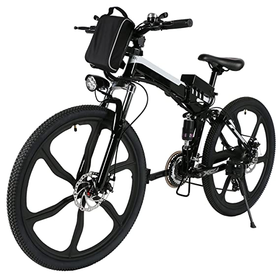 Amazon Com Cosway Folding Electric Mountain Bike With Lithium Ion