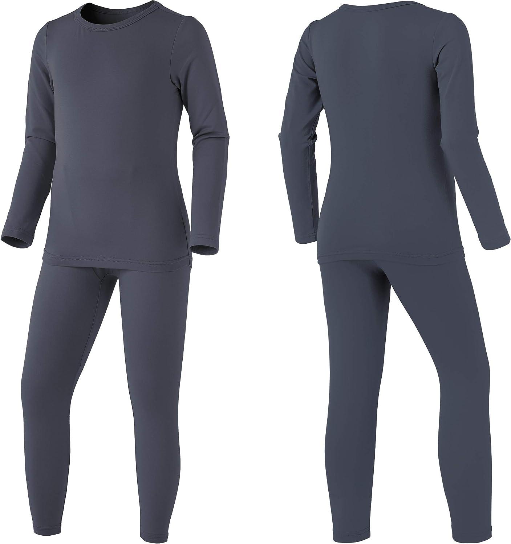 TSLA Kids /& Boys and Girls Microfiber Soft Fleece Lined Warm Thermal Top /& Bottom Set