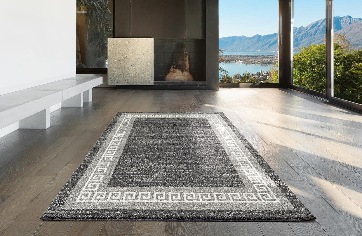 Dara 2054 Antracite Gray Modern 8 x 10 Area Rug Carpet Large New