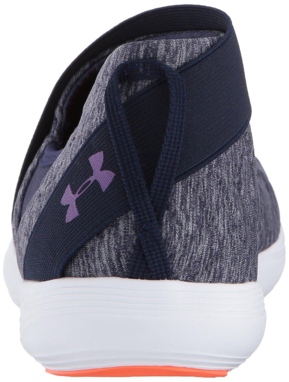 Under Armour Women's Street Precision Slip Metallic Cross-Trainer Shoe B01N0QZONN 12 M US|Midnight Navy (410)/White