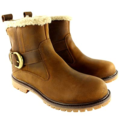 09c7408812fd Timberland Womens Earthkeepers Nellie Biker Fur Lined Mid Calf Boots UK 3-8