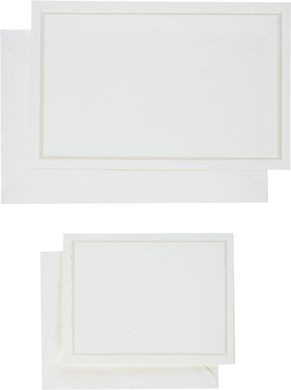 Case of 50 White /& Black Damask Thank You Cards Gartner Studios New Sealed